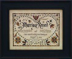 Marta Urban - Pennsylvania German Fraktur - Marriage Fraktur