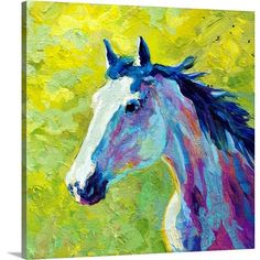 Found it at Wayfair - Mustang by Marion Rose Painting Print on Wrapped Canvas