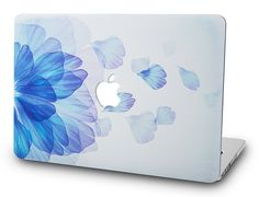 Macbook Case | Oil Painting Collection - Blue Flower