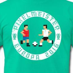 Pixelmeister Europa #soccer #fußball #videogame #retrogaming #c64 #nerd #tshirt #deutschland #spanien #germany #spain