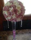 Pompander Flower Centerpieces Blush/Rose by WeddingCenterpiece, $350.00