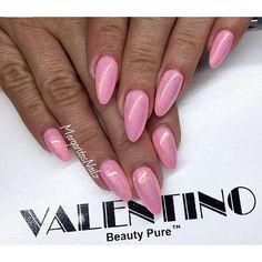 Pink almond nails summer 2016