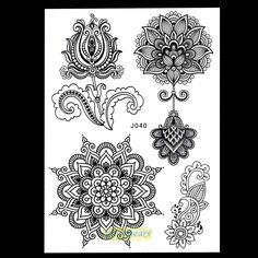 New Mixture Picture Designs for Sexy Women Body Beauty & Health Henna Lotus Flower Lace Mehndi Temporary Tattoo Paster