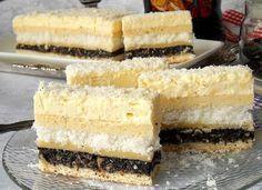 Danina kuhinja: Kolač sa makom i kokosom Romanian Desserts, Food Gallery, Cake Cookies, Coco, Vanilla Cake, Food Styling, Cake Recipes, Sweet Treats, Cheesecake