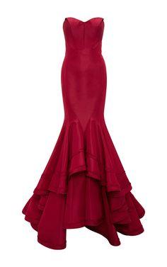ZAC POSEN Classic Silk Faille Mermaid Gown
