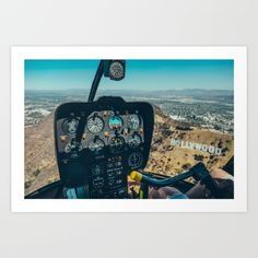 HOLLYWOOD gallery quality Giclée, or fine art print custom trimmed by hand in a variety of sizes with a white border for framing.