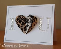 i love you card....very cute and so easy