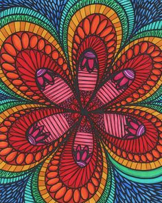 ColorIt Colorful Flowers Volume 1 Colorist Lorrie Palmer Adultcoloring Coloringforadults Adultcoloringpages FlowersSubmissionColoring