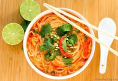 Thai Spicy Noodle Soup Recipe | EverydayEasyEats.com