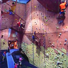 Indoor Rock Climbing at Upper Limits - 2 Locations in St. Louis.  So much fun even for beginners!