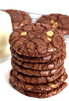 Chocolate Wows Cookies: a delicious chocolate cookie recipe with peanut butter chips.  Great holiday cookie recipe!