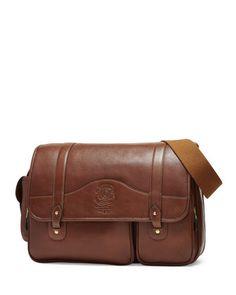 Fielding No. 137 Leather Messenger Bag, Vintage Chestnut by Ghurka at Neiman Marcus.