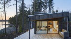 Arkitektparet Hjärre-Nettleton flyttade från London till Stockholm. Och fick med sig uppdraget att rita en modern villa mitt i en John Bauer-skog i Dalarna.