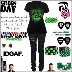 """Green day outfit"" by xoxashlinaxox ❤ liked on Polyvore"