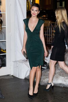 This model didn't blur any lines in the plunging dress she wore to the Sports Illustrated 50th Anniversary Swimsuit Issue Party in New York.