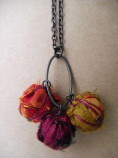 Fiber bundle beads--Rough Around the Edges: Fall Colors