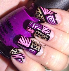 Colorblock Animal Prints by iLuvUrNailz - Nail Art Gallery