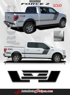 "Ford Truck FX4 Punisher Edition 2 Decals// Color Choice Free US Shipping 5.5/"" 16/"""