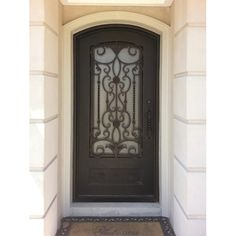 Wrought Iron Doors in means higher quality, heavier, thicker and strong custom iron doors at competitive prices. Contact us today: Iron Front Door, Front Doors, Wrought Iron Doors, Door Gate, Curb Appeal, Windsor, Gates, Rv, Entryway
