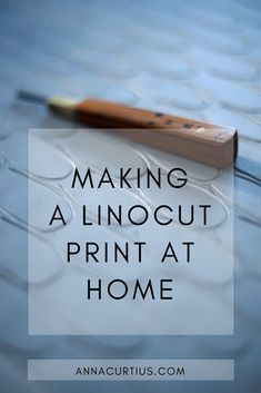 HOW TO MAKE A LINOCUT AT HOME WITHOUT A PRESS — Anna Curtius - - In this post I will explain the basic steps of making linocuts at home without a press. I love the craft of linoleum printing and I hope you will tempted to try it as well. Form Design, Linolium, Linoleum Block Printing, Block Printing On Fabric, Stamp Printing, Lino Art, Stamp Carving, Handmade Stamps, Linoprint