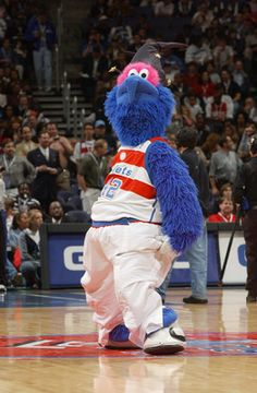 g-wiz of the washington wizards.....he is funny i have met him at a wizards game
