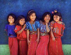 Innocence in the smiles of Guatemalan girls