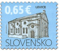 COLLECTORZPEDIA: Slovakia Stamps Cultural Heritage of Slovakia: Synagogue in Levice