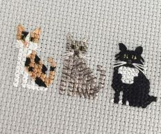 Thrilling Designing Your Own Cross Stitch Embroidery Patterns Ideas. Exhilarating Designing Your Own Cross Stitch Embroidery Patterns Ideas. Cat Cross Stitches, Cross Stitch Bookmarks, Mini Cross Stitch, Cross Stitch Animals, Cross Stitch Charts, Cross Stitch Designs, Cross Stitching, Knitting Stitches, Cross Stitch Freebies