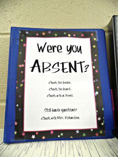 Eat. Write. Teach.: classroom organization = ABSENT NOTEBOOK