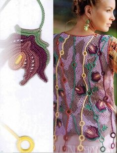 "Photo from album ""Журнал Мод 2015 № on Yandex. Zhurnal Mod, Crochet Flowers, Crochet Lace, Free Crochet, Freeform Crochet, Irish Crochet, Irish Lace, Hand Stitching, Embroidery Stitches"