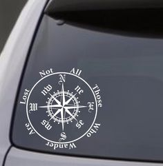 """Compass """"Not All Those Who Wander Are Lost"""" Vinyl Decal Sticker Car Window Wall Jeep Stickers, Jeep Decals, Truck Decals, Vinyl Decals, Jeep Wrangler Camper, Jeep Wrangler Rubicon, Jeep Jeep, Jeep Wrangler Accessories, Jeep Accessories"""