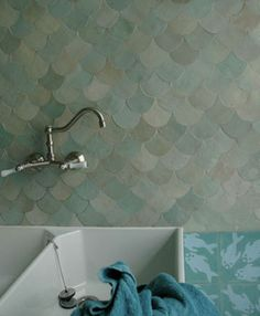 1000 ideas about mermaid tile on pinterest tiling for Fish scale backsplash