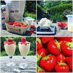 Eiweiss Erdbeer Quark Dessert für 2 Personen  ✔️ 500 g Speisequark (Magerstufe) ✔️ 400 ml 1,5%ige Frischmilch ✔️ 30 g Soja Protein Isolat ✔️ 3-5 Tropfen Erdbeer Flavourdrops ✔️ 1 Eiklar ✔️ 1 Teelöffel Vanilleextrakt ✔️ 200 g Erdbeeren   Frischmilch, Vanilleextrakt, Magerquark, Eiklar, Soja Protein Isolat, Aromatropfen glatt rühren, in Dessertgläser füllen, 200 g Erdbeeren klein schneiden, damit die obere Schicht auffüllen und bis zum Servieren kalt stellen. Guten Appetit!