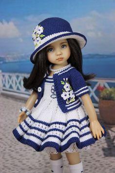 Ооак наряд для куклы Дианна Effner Little Darling. # Ооак наряд для куклы 13 Дианна Effner Little Darling. Knitting Dolls Clothes, Crochet Doll Clothes, Knitted Dolls, Girl Doll Clothes, Barbie Clothes, Girl Dolls, Children Clothes, Girl Clothing, Doll Patterns Free