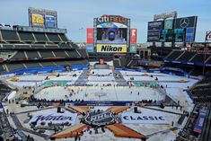 Citi Field in Queens has been turned into a Winter Classic wonderland for Monday's New Year's Day game between the Rangers and Sabres. New York Daily News, Sports Images, New York Rangers, Winter, Classic, Nhl, Queens, Wonderland, Portraits