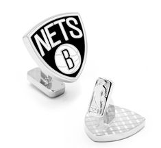 Brooklyn Nets Palladium Cufflinks BY NBA