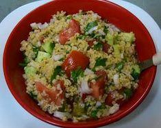 ΜΑΓΕΙΡΙΚΗ ΚΑΙ ΣΥΝΤΑΓΕΣ: Ταμπουλέ σαλάτα με πλιγούρι !! Salad Bar, Salads, Rice, Tasty, Cooking, Recipes, Georgia, Foods, Products