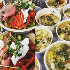 Dagens sallad! Oxbringa matvete en salsa med mangomelon och gröna bönor. Serveras med en senaps och pepparrots kräm. Dagens soppa: är en härlig coq au vin.ä med kycklinglår vitt vin och citron. Välkommna till 18 idag! #sockermajas #torslanda #lunch