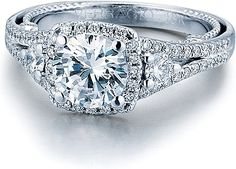 Verragio Split Shank Diamond Engagement Ring INS-7068CU