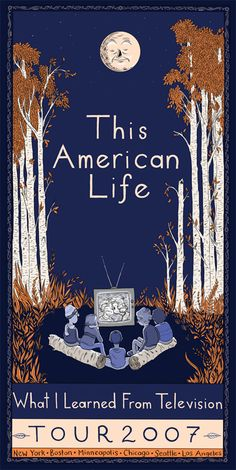 This American Life poster by Lilli Carré
