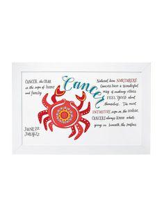 """Cancer"" Zodiac Art by Serena & Lily"