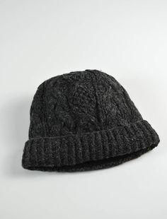 c49f124acfe Aran Fleece Lined Rib Cap - Charcoal Pairs