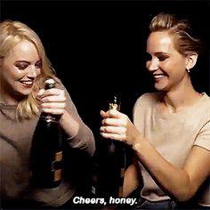 New Years with Emma Stone & Jennifer Lawrence!