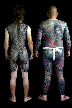 Full body 'donburi' tattoos of the type inked on one of the colourful characters in John Burdett's mystery novel, Bangkok Tattoo.