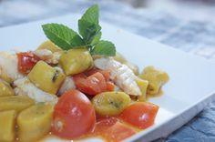 Gnocchi alla curcuma e mentuccia con sogliola e pomodorini by Nastro di Raso #Poloplast