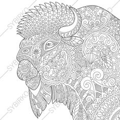 Coloring Pages Animal Book For Adults Instant