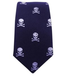 Skull and Crossbones - Navy (Skinny) || Ties - Wear Your Good Tie. Every Day - Skull and Crossbones - Navy (Skinny) Ties