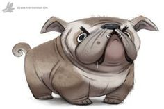 Daily Painting 768. Bulldog by Cryptid-Creations ★ Find more at http://www.pinterest.com/competing/
