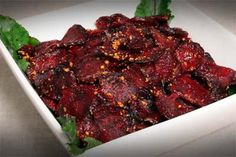 Spicy Peanut Baked Beets recipe by A Taste of Thai.