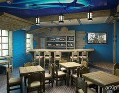 """Пивной ресторан """"Азимут"""" в г. Киеве: интерьер, ресторан, кафе, бар, морской, барная стойка, 100 - 200 м2 #interiordesign #restaurant #cafeandbar #marine #barcounter #100_200m2 arXip.com"""